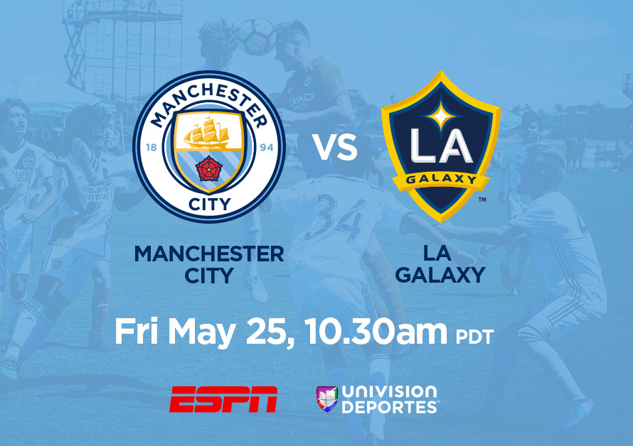 M Manchester City Under-14 vs. LA Galaxy Under-14, May 25, 10:30am PDT